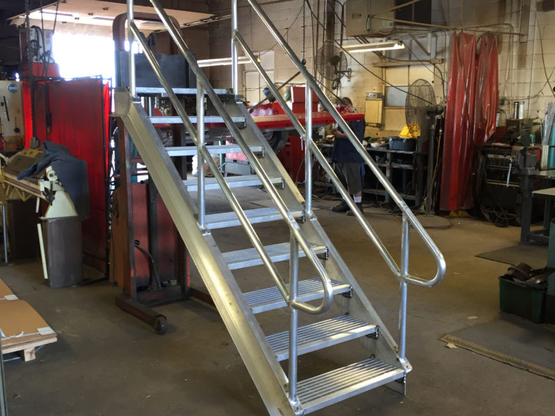 Lakecraft Corporation - Fabrication - Lakecraft Machine shop - Aluminum Stairs